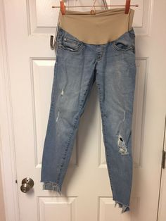 FREE Shipping $4.2 Indigo Blue Maternity Distressed Crop Jeans Skinny Xs, #CheapMaternityClothes, #PregnancyJeans Cheap Maternity Clothes, Cute Maternity Outfits, Maternity Leggings, Maternity Skinny Jeans, Asos Maternity, Maternity Tops, Crop Jeans, Cropped Skinny Jeans, Mother Denim