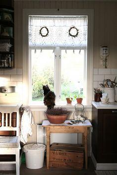Beautiful - subway tile, cat in the window, farm fresh eggs, etc.