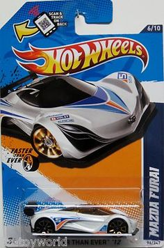 Mazda Fura1 Hot Wheels 2012 Faster Than Ever #6/10 White w/Orange & Blue Stripes