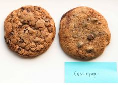 Corn syrup sugar replacement. You can substitute some of the white sugar with corn syrup to create a super smooth and thin cookie. Even after cooled, the cookie will still be soft and flexible, and due to its makeup of simple sugars, it will caramelize quicker (this creates a darker cookie).