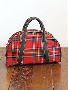 Vintage Red Plaid Mini Suitcase. http://www.freepeople.com/vintage-loves-tartan-traveler/vintage-red-plaid-mini-suitcase/