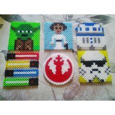 Star Wars coaster set perler beads by its.mace