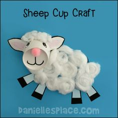 Lamb of God Cup Craft from www.daniellesplace.com