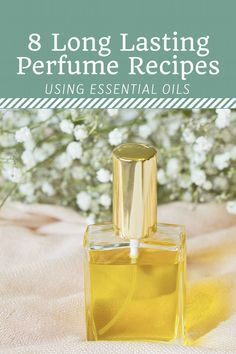 Have you ever wanted to make homemade perfume with essential oils but were unsure of which scents to blend? Here you will find 8 easy DIY recipes and a free printable worksheet to help you customize your own natural, long lasting fragrance. Perfume Hermes, Perfume Zara, Perfume Diesel, Perfume Bottles, Perfume Atomizer, Solid Perfume, Parfum Bio, Natural Beauty Products, Homemade Beauty Products