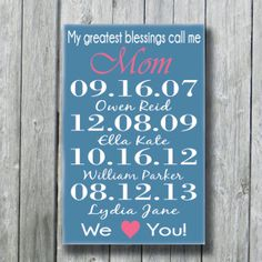Personalized Mother's GiftMother's Day by doudouswooddesign, $42.00