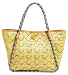 4227aa95d2b Small Mosaic W/ Tb Gift Receipt Multi-color Straw and Leather Tote. Tory  Burch ...