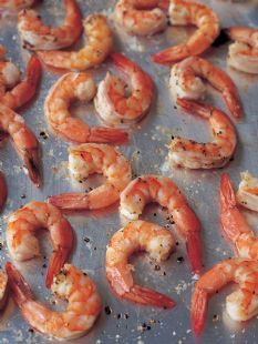 Barefoot Contessa - Recipes - Lemon Pasta with Roasted Shrimp