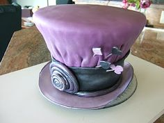 purple mad hatter cake