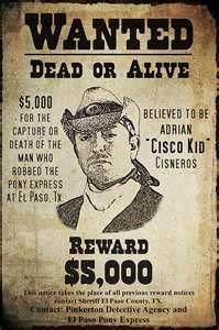 Old West Wanted Posters -/