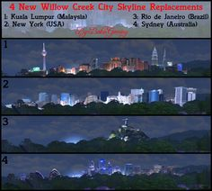 4 New Willow Creek City Skyline Replacements
