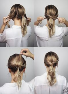 10 office hairstyles you should try if you& a lazy girl - . - 10 office hairstyles you should try if you& a lazy girl – must are - Office Hairstyles, Up Hairstyles, Braided Hairstyles, Simple Ponytail Hairstyles, Twisted Ponytail, Quick Work Hairstyles, Ponytail Hairstyles Tutorial, Hairstyle Ideas, Simple Hairstyles For Medium Hair