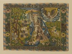 Attributed to the weaving workshop funded by William Sheldon. The Sacrifice of Isaac, probably made between 1561 and 1613. The Metropolitan Museum of Art, New York. Gift of Irwin Untermyer, 1964 (64.101.1282) #tapestrytuesday