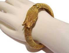 Kenneth Lane Bracelet Golden Tassel Clamper K.J.L. by PearlModern, $350.00