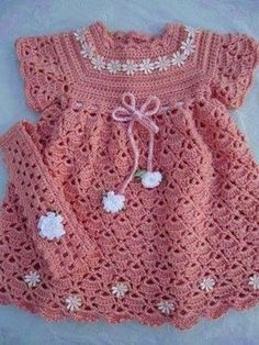 Crochet Dress Pattern For FreeCrocheted Baby Dress FREE Pattern in English by Sweet Nothings Crochet at Shyaman .This - 2 PATTERNS - Months - Flower N Shell Baby Dress & Headband Set, Crochet Baby Dress, Baby Christening dress Pattern. Crochet Baby Dress Free Pattern, Baby Dress Patterns, Baby Girl Crochet, Crochet Baby Clothes, Cute Crochet, Crochet For Kids, Knit Crochet, Crochet Patterns, Crochet Dresses