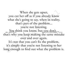 So you're adding to problem and become the problem.