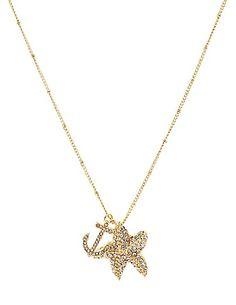 Nautical Rhinestone Charm Necklace