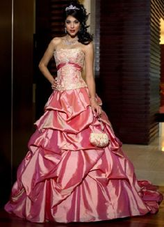 pink and blue wedding dresses