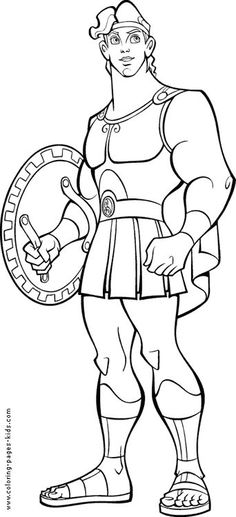 Hercules Color Page Disney Coloring Pages Plate Sheetprintabl