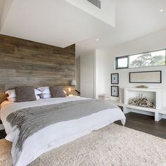 Decorating Ideas For Romantic Bedrooms Design Ideas, Pictures, Remodel and Décor love the barnwood accent wall