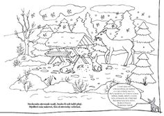 omalovánky lesa - Hledat Googlem Forest Animals, Winter, Worksheets, 1, World, Color, Punto De Cruz, Dots, Needlepoint