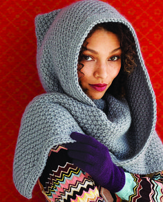 Ravelry: Hood pattern by Jacqueline van Dillen. Love the stitch!  ♡MOSS STITCH.......IT'S MY FAVORITE STITCH!!!  ♥A