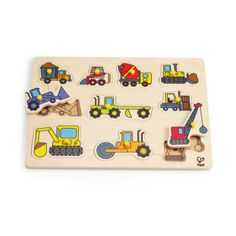 Shop for Hape Construction Vehicle Bamboo Peg Puzzle - Multi. Get free delivery On EVERYTHING* Overstock - Your Online Toys & Hobbies Outlet Store! Online Toy Stores, Toys Online, Wooden Toys Australia, Hape Toys, Construction Tools, Kids Learning, Playground, Jigsaw Puzzles, Price Increase