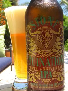 Stone - Ruination 10th Anniversary IPA - has your palate been ruined yet?