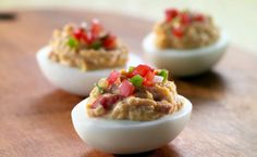 Find the best deviled egg recipes, from bacon deviled eggs to healthy deviled eggs. Try a recipe with a spicy twist, or stick with the classic version for an easy party treat. Devilled Eggs Recipe Best, Bacon Deviled Eggs, Deviled Eggs Recipe, Egg Recipes, Appetizer Recipes, Appetizers, Appetizer Ideas, Dinner Recipes, Cooking Recipes