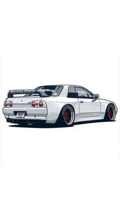 nissan gtr Nissan Skyline GT-R # # Skyline- R32 Skyline, Nissan Skyline Gtr R32, Gtr Nissan, Tuner Cars, Jdm Cars, Cars Auto, Jdm Wallpaper, Drifting Cars, Luxury Sports Cars