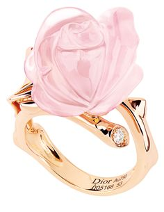 Christian Dior Pink Quartz Rose Ring