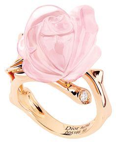 Christian Dior Pink Quartz Rose Ring