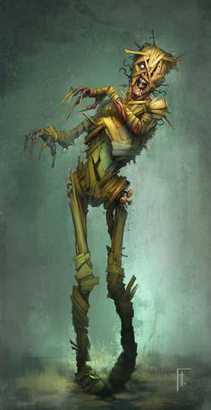 Wood Zombie, Flavio Hoffe on ArtStation at http://www.artstation.com/artwork/wood-zombie
