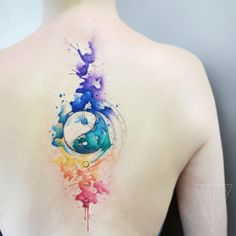 The 112 Best Watercolor Tattoos for Men Chakra Tattoo, Body Art Tattoos, Hand Tattoos, Small Tattoos, Tiny Tattoo, Couple Tattoos, Tattoos For Guys, Jing Y Jang, Stolz Tattoo