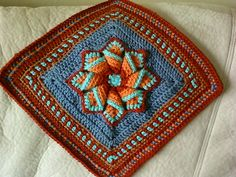 Pinwheel Star Granny Square Motif By Bonnie Pierce - Free Crochet Pattern - (ravelry)