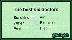 The best 6 doctors ... Preventive Medicine ... #Exercise #Nutrition #SunlightHeals #Sleep