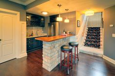 Beautiful Basement Kitchen Bar Ideas