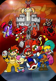 One giant heap of procrastination later- All characters (c) Nintendo/SquareSoft Super Mario RPG Super Mario Rpg, Video Game Companies, Metroid, Heart For Kids, Mario Bros, Drawing People, Legend Of Zelda, Bowser, Pokemon