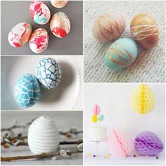 Easter Egg Decorating Roundup...If you're still merely dunking an Easter eggs in dye, this year take your eggs one step further with these creative decorating techniques. From DIY stickers to nail polish, there's no limit to the creative, crafty ways you can make egg embellishing fun. Here are 15 great egg decorating ideas to get your creative juices flowing.