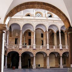 Palermo, Palazzo dei Normanni.  It was the seat of the Kings of Sicily during the Norman domination and served afterwards as the main seat of power for the subsequent rulers of Sicily. Today it is the seat of the regional parliament of Sicily.