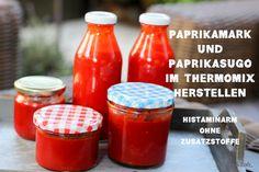 Paprikasugo und Paprikamark im Thermomix herstellen – geht ganz einfach und ist eine tolle Alternative zu Tomatenmark – histaminarm