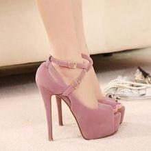 Gratis verzending nieuwe lente 2014 hoge- hakken platform bruiloft schoenen mode vrouwen schoenen rode onderkant hoge heels# 5698 pompen(China (Mainland))