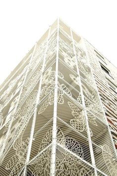 crocheted lace facade