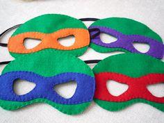 Felt Ninja Turtle Masks set of 4 by littlestfeltshop on Etsy, $20.00