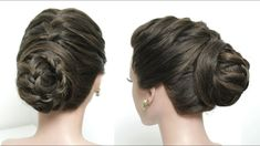 Braided Bun Updo. Hairstyle For Occasion. Hair Tutorial