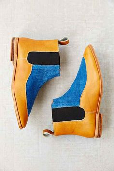 Osborn Indigo Leather Chelsea Boot