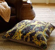 PB: Azhan Ikat Hand-Knotted Floor Pillow Cover