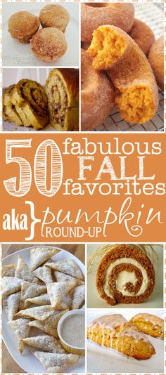 50 Fall Recipes - something for everyone! #pumpkin #recipes