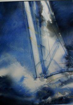 """Résultat de recherche d'images pour """"liliane goossens"""" Marine Art, Nautical Painting, Art, Sailboat Painting, Abstract, Nature Paintings, Seascape Paintings, Abstract Art Landscape, Sea Art"""