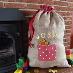 personalised christmas sack by miss shelly designs | notonthehighstreet.com