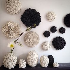 London-based artist Vanessa Hogge sculpts vessels and decorative wall objects called wallflowers covered in hundreds of delicate porcelain petals out of her studio in Cockpit Arts Holborn. The one-off pieces are inspired by daisies, chrysanthemums, dahlias, hydrangeas, and daphne and range from smal